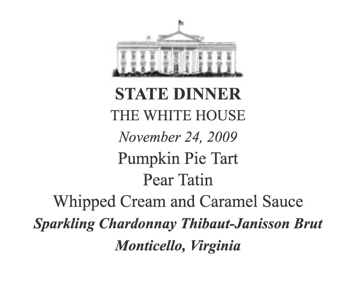 Dinner white house november #2009 Sparkling Thibaut-Janisson