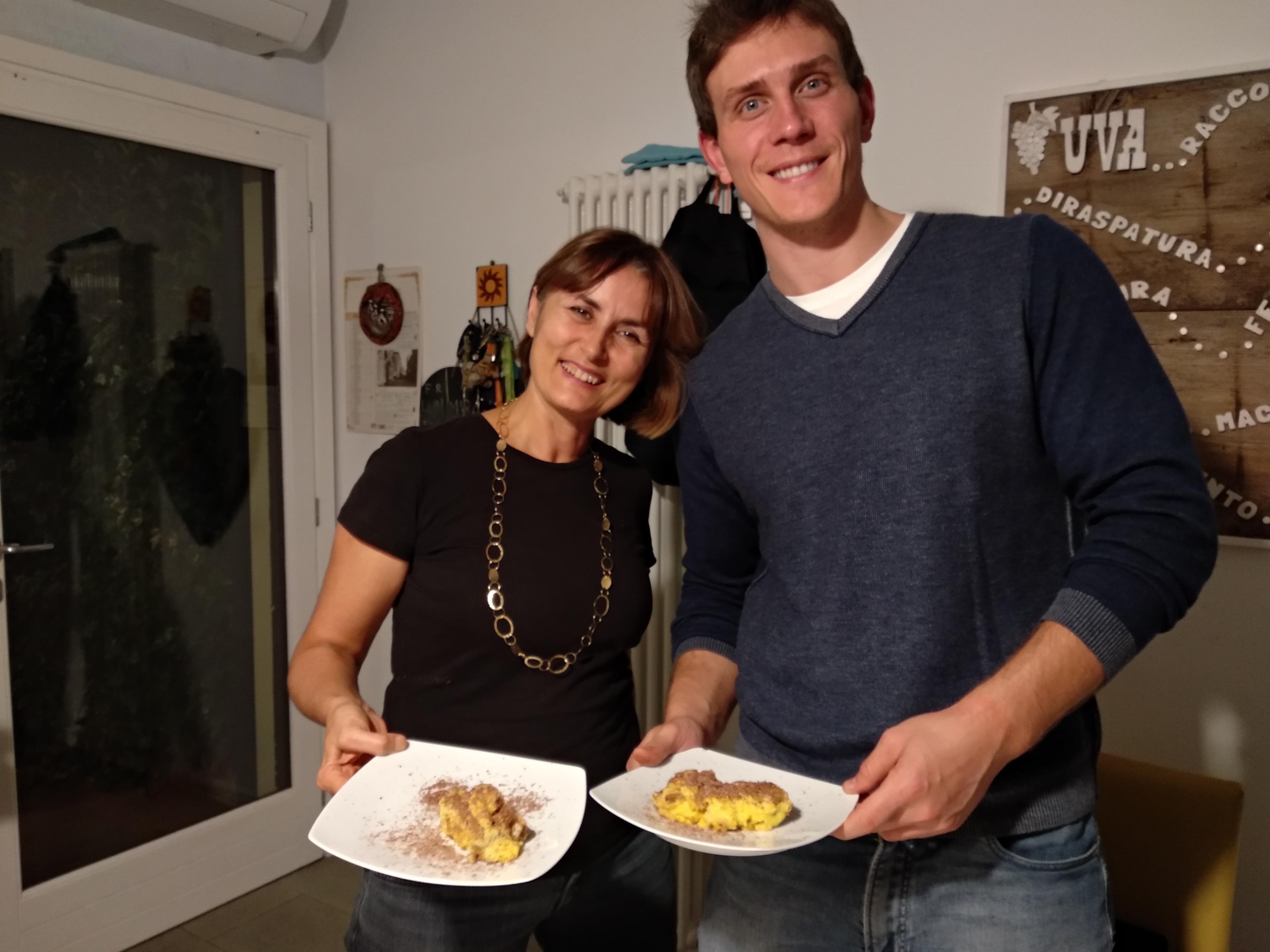Madre italiana con studente americano