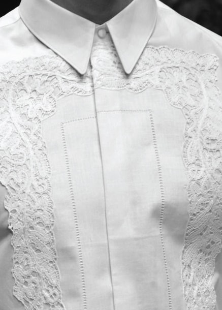 Tom Ford embroidered white shirt