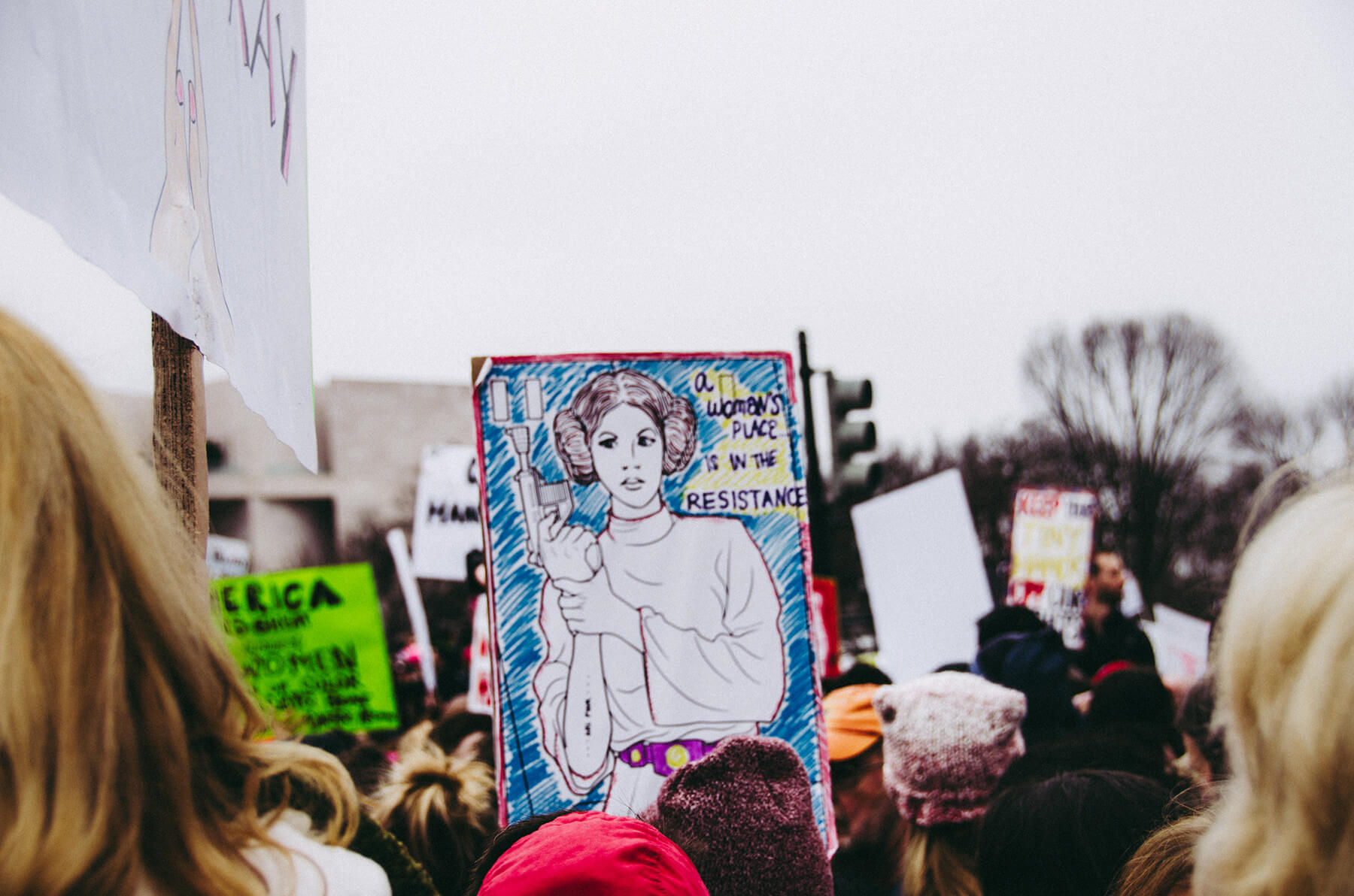 a woman's place is in the resistance image