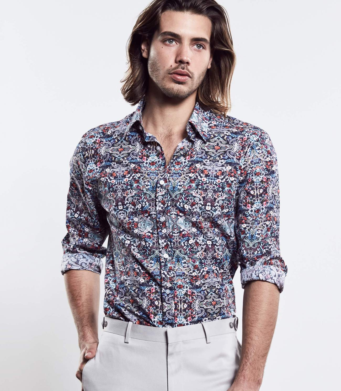 Pop Floral Print Shirt, Calibre