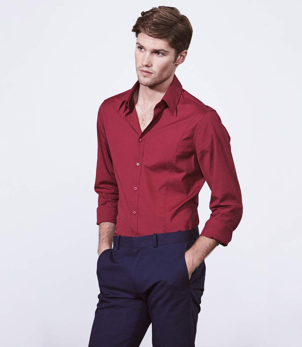 LS Stretch Shirts Fushsia, CALIBRE