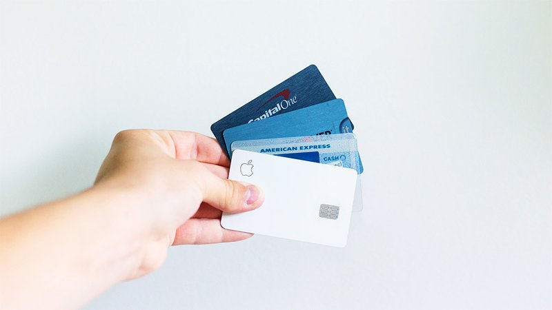 Credit card held in hand