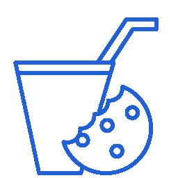 Icono galletas y bebida