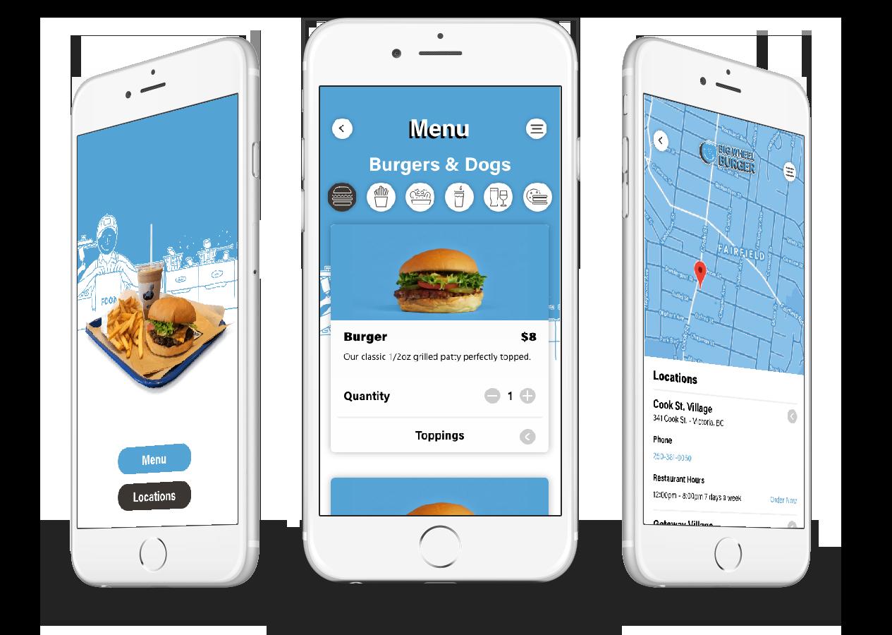 Big Wheel Burger mobile ordering app