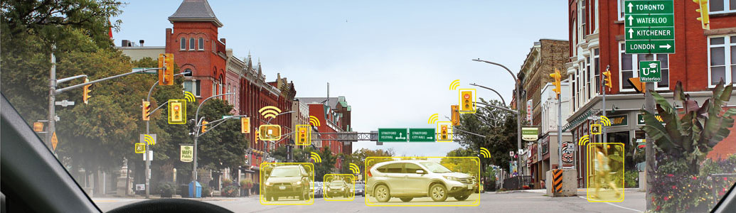 intersection with smart technology