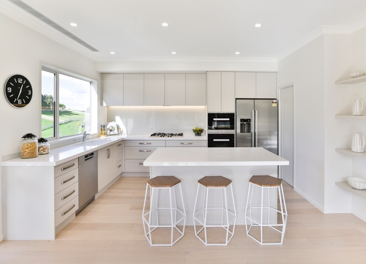 Open white kitchen