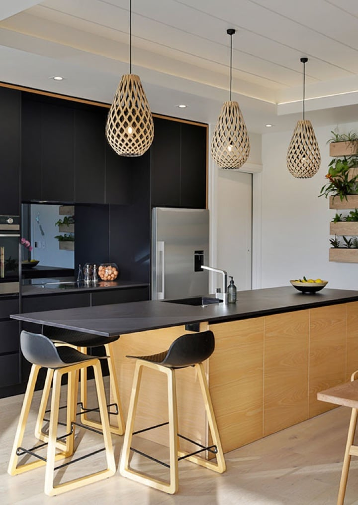 Kitchen with planter boxes