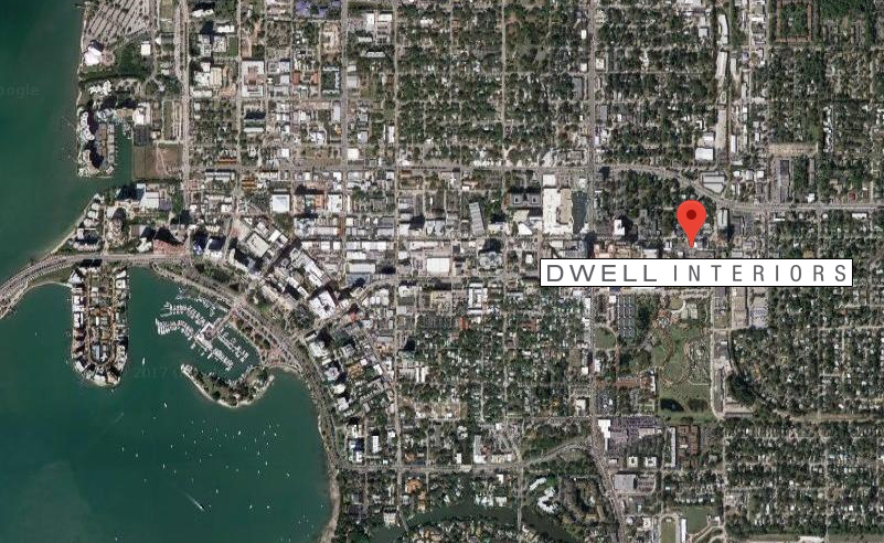 Dwell Interiors location map
