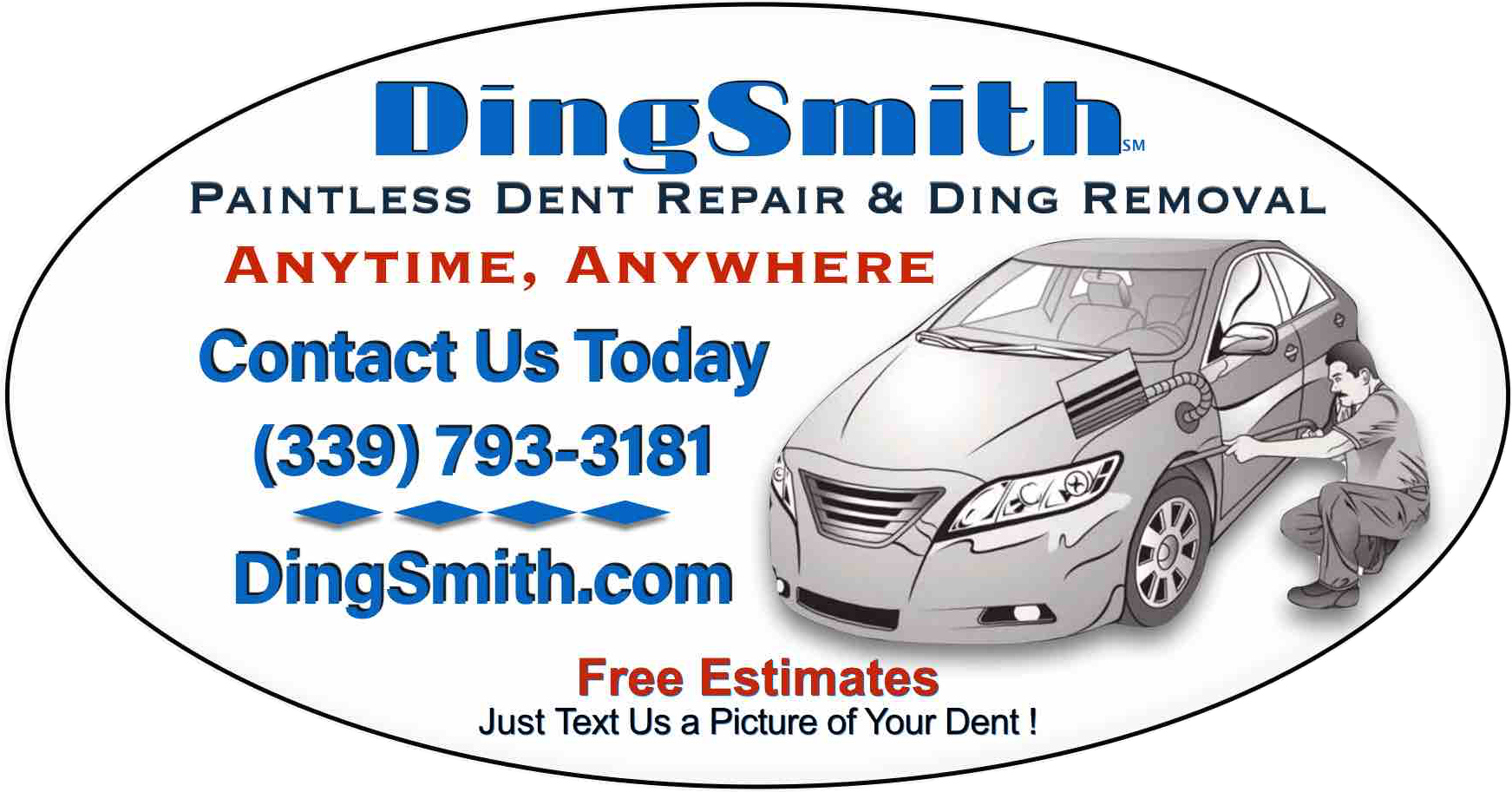 Paintless Dent Repair Cost >> Dingsmith Mobile Paintless Dent And Ding Removal Of