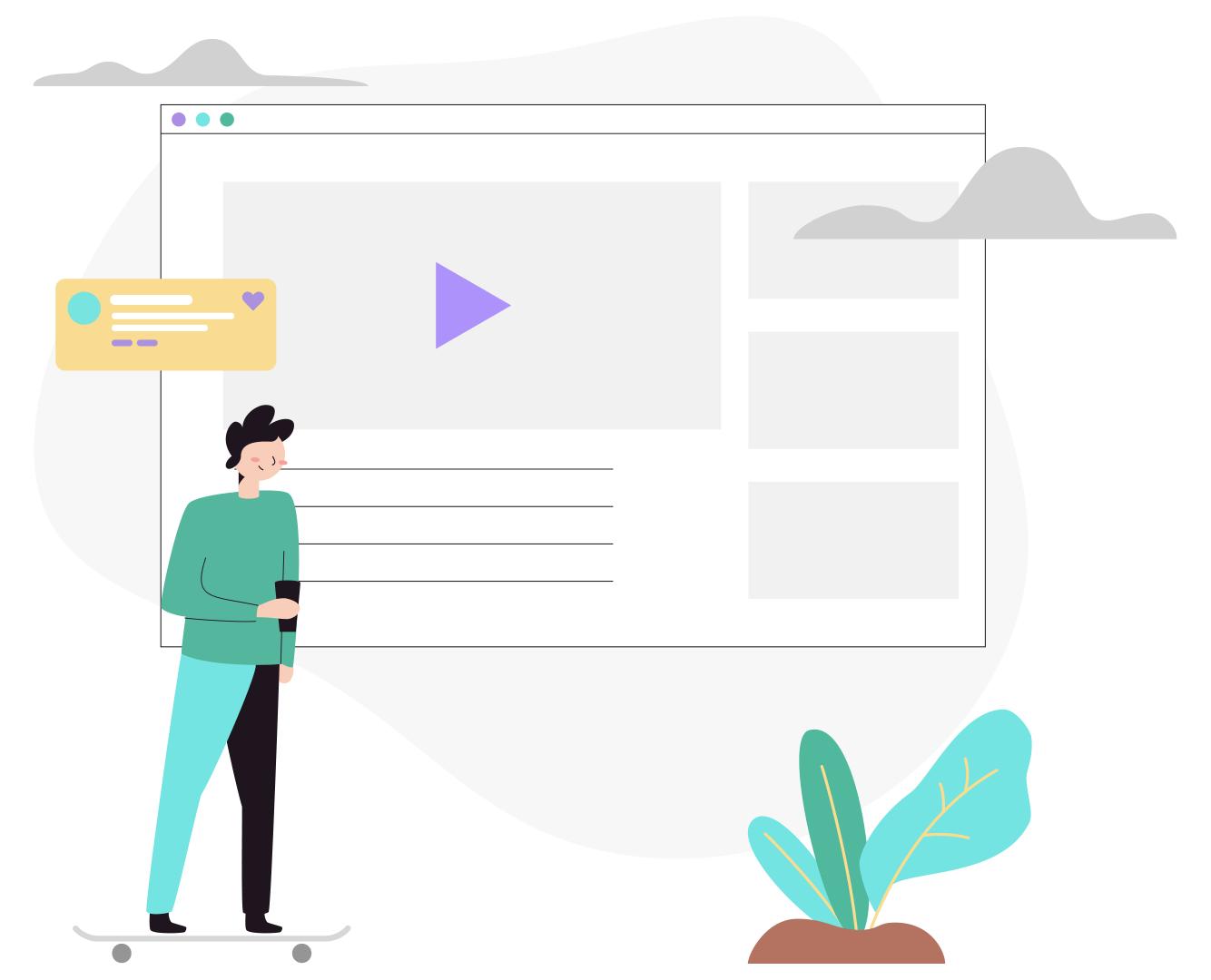 tech working illustration