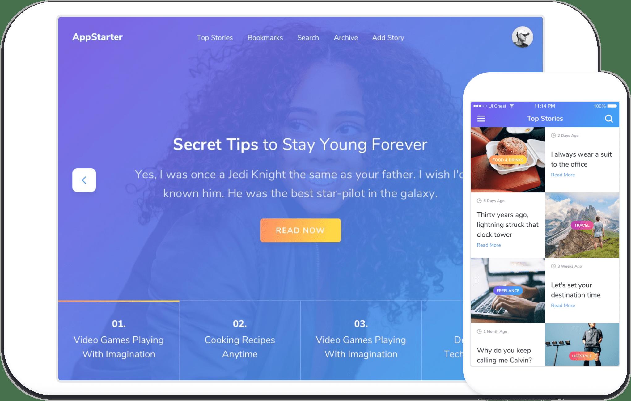 AppStarter — UI Kit Webflow Template