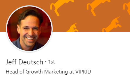 Linkedin profile picture of Jeff Deutsch, Head of Growth at VIPKID