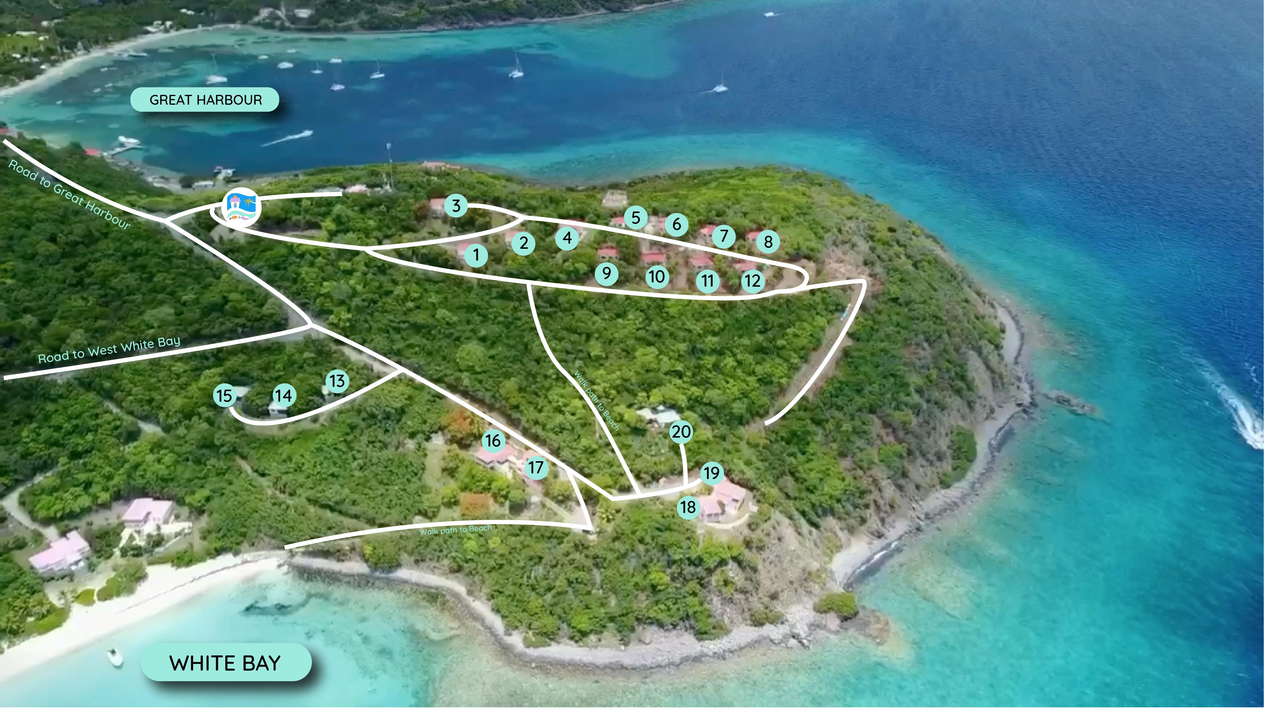 White Bay Villas Property Map
