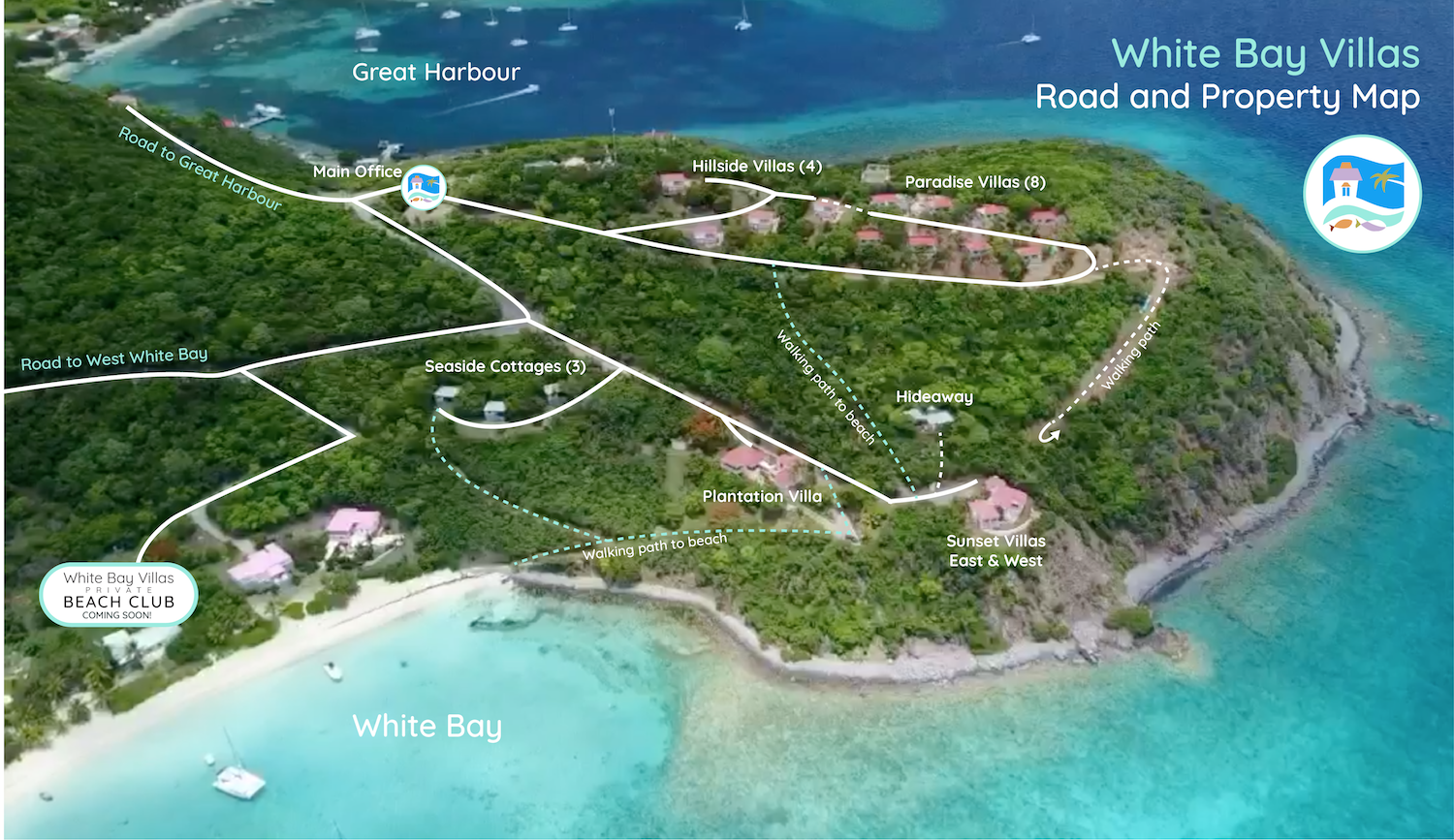 White Bay Villas Property Map