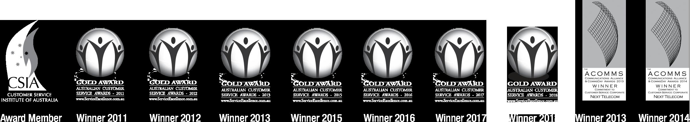 Next Telecom Awards for Customer Service