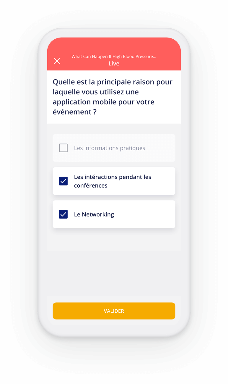 Question live sur l'application evenementielle Haloha