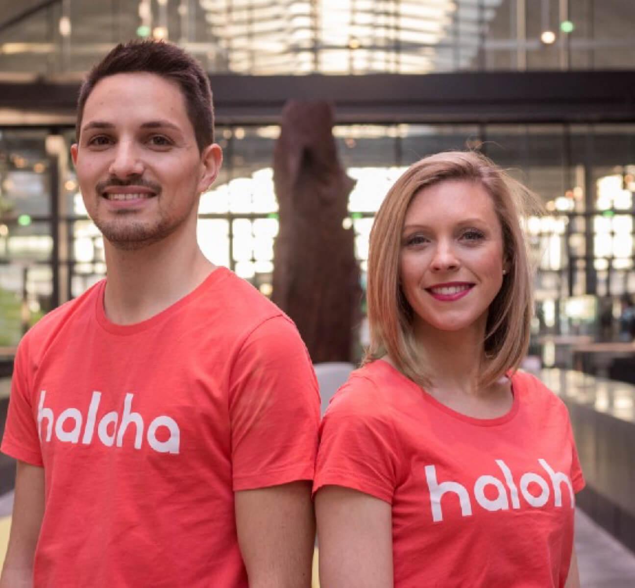 Cynthia et Fabien, les cofondateurs de Haloha a Station F
