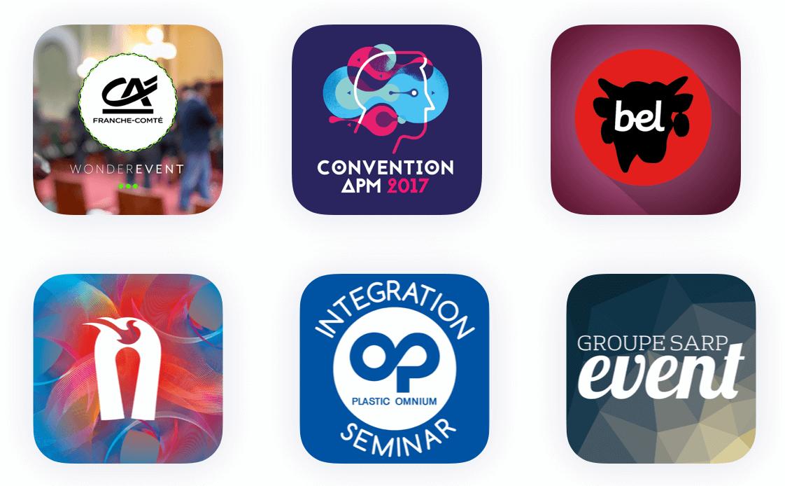Logos pour l'application evenementielle Haloha en marque blanche