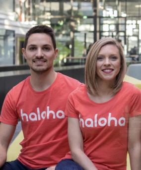 Fabien et Cynthia, cofondateurs d'Haloha