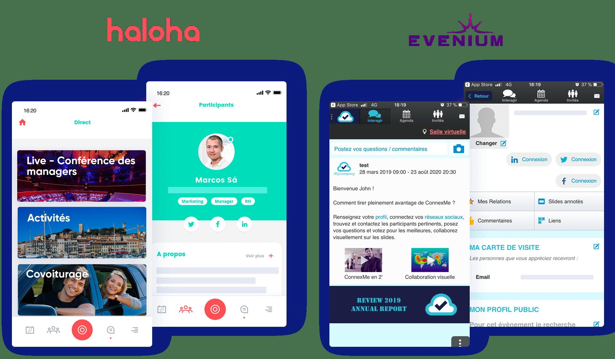 Expérience Haloha vs Evenium