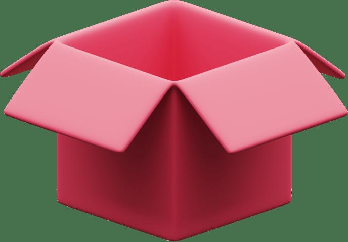 Иллюстрация коробки с сюрпризом