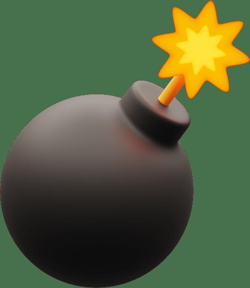 Иллюстрация игрушечной бомбы