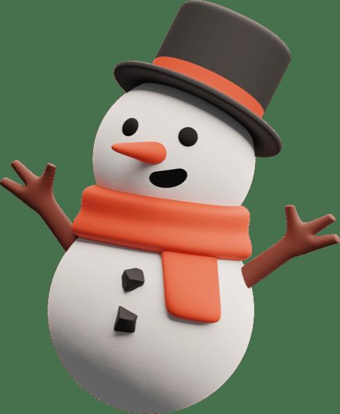 Иллюстрация снеговика