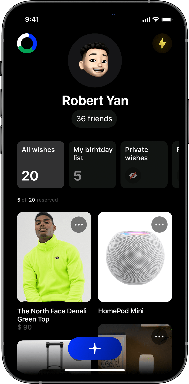 Ohmywishes iOS, wishlist, вишлист, идеи подарков