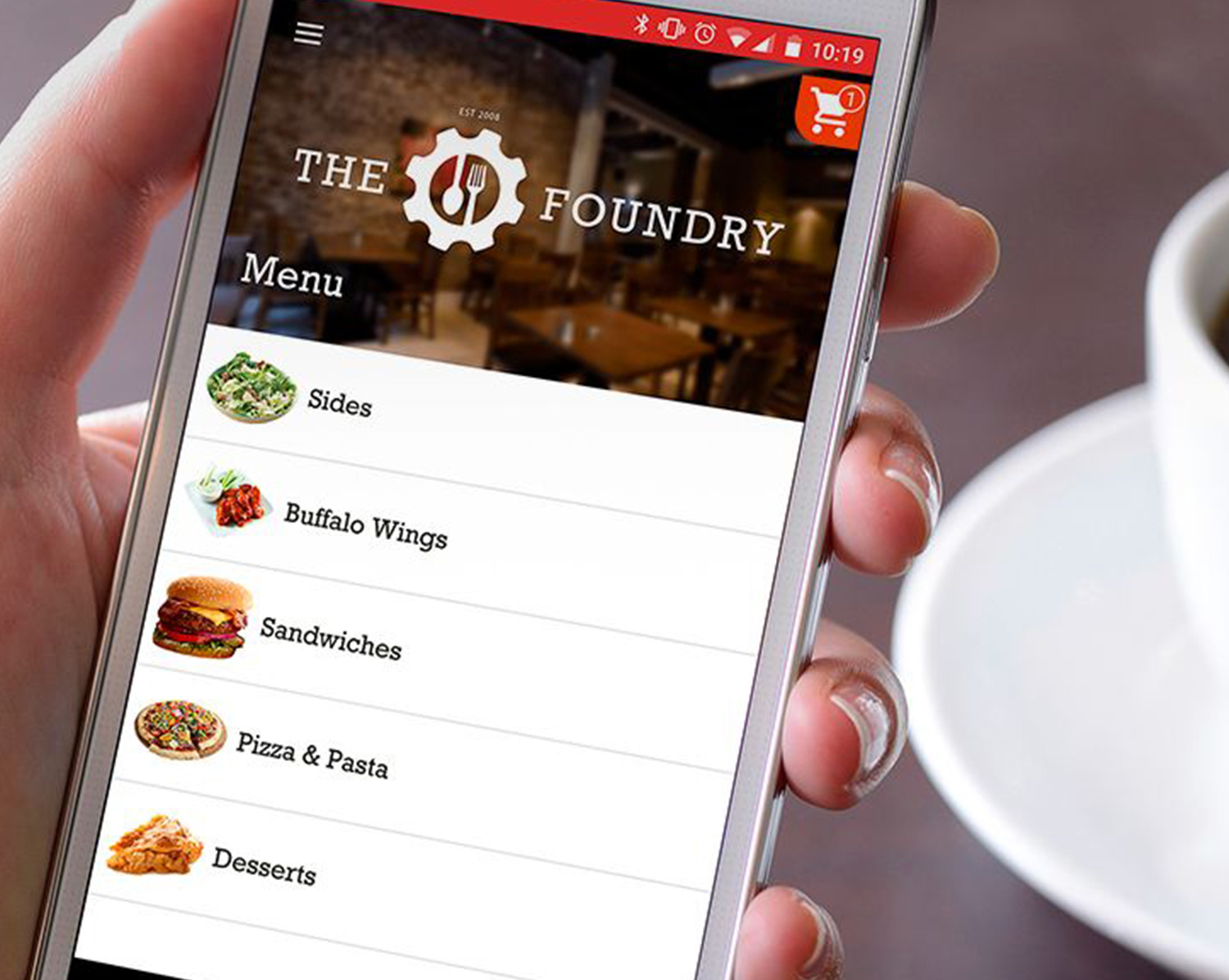 Online ordering features available