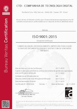 ISO 9001 Certificação