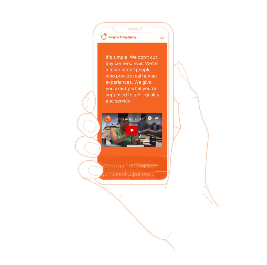orange auto tag agency oata mobile website