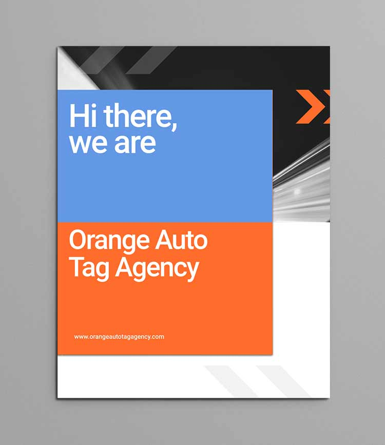 orange auto tag agency dealer packet