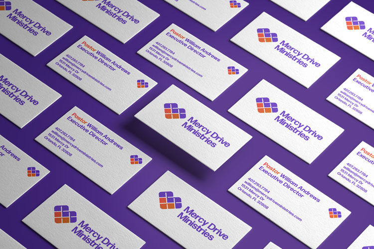 mercy drive ministries business cards