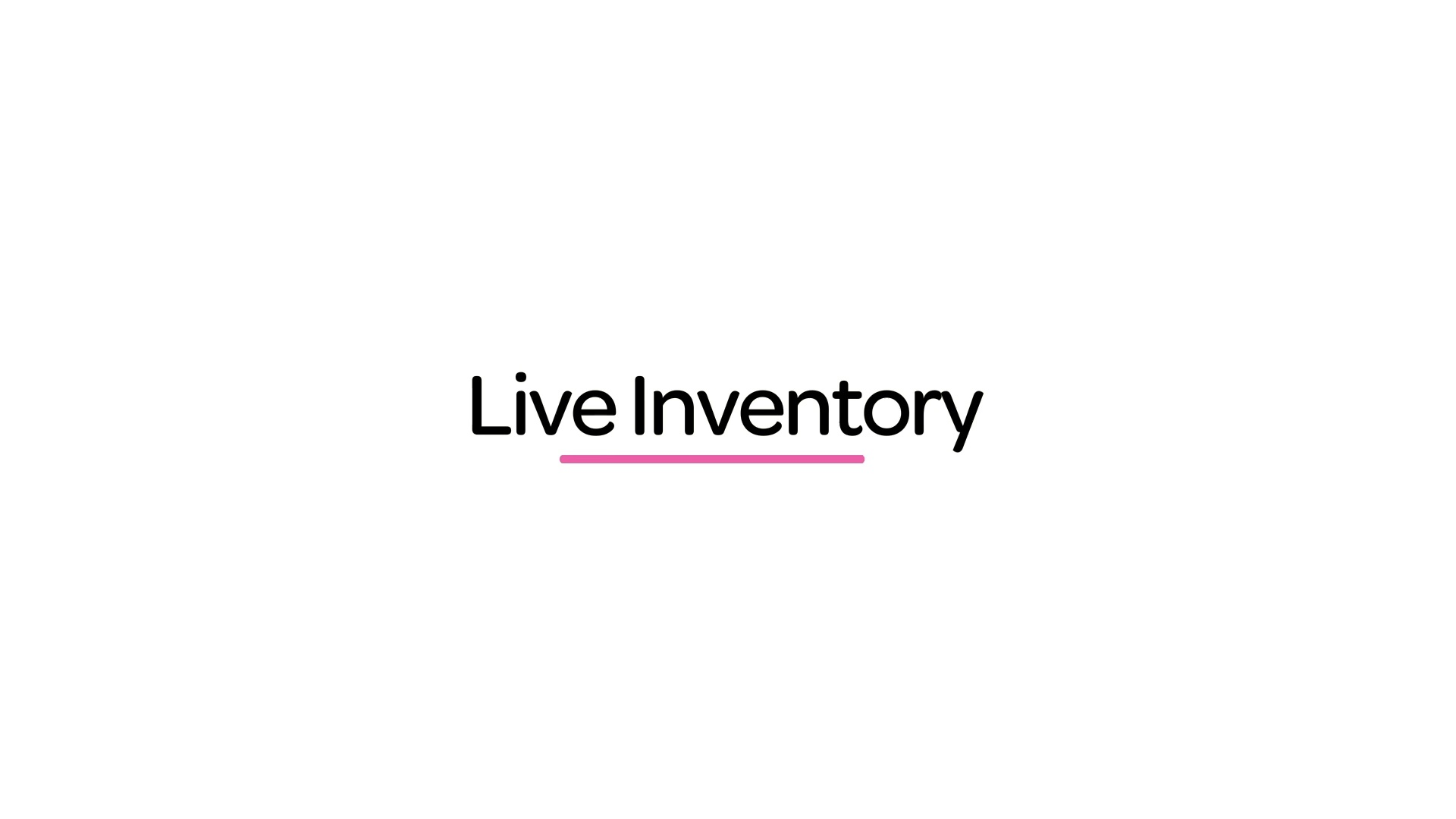 Customers are always presented with a living menu of services relevant to them, no matter the current inventory state.