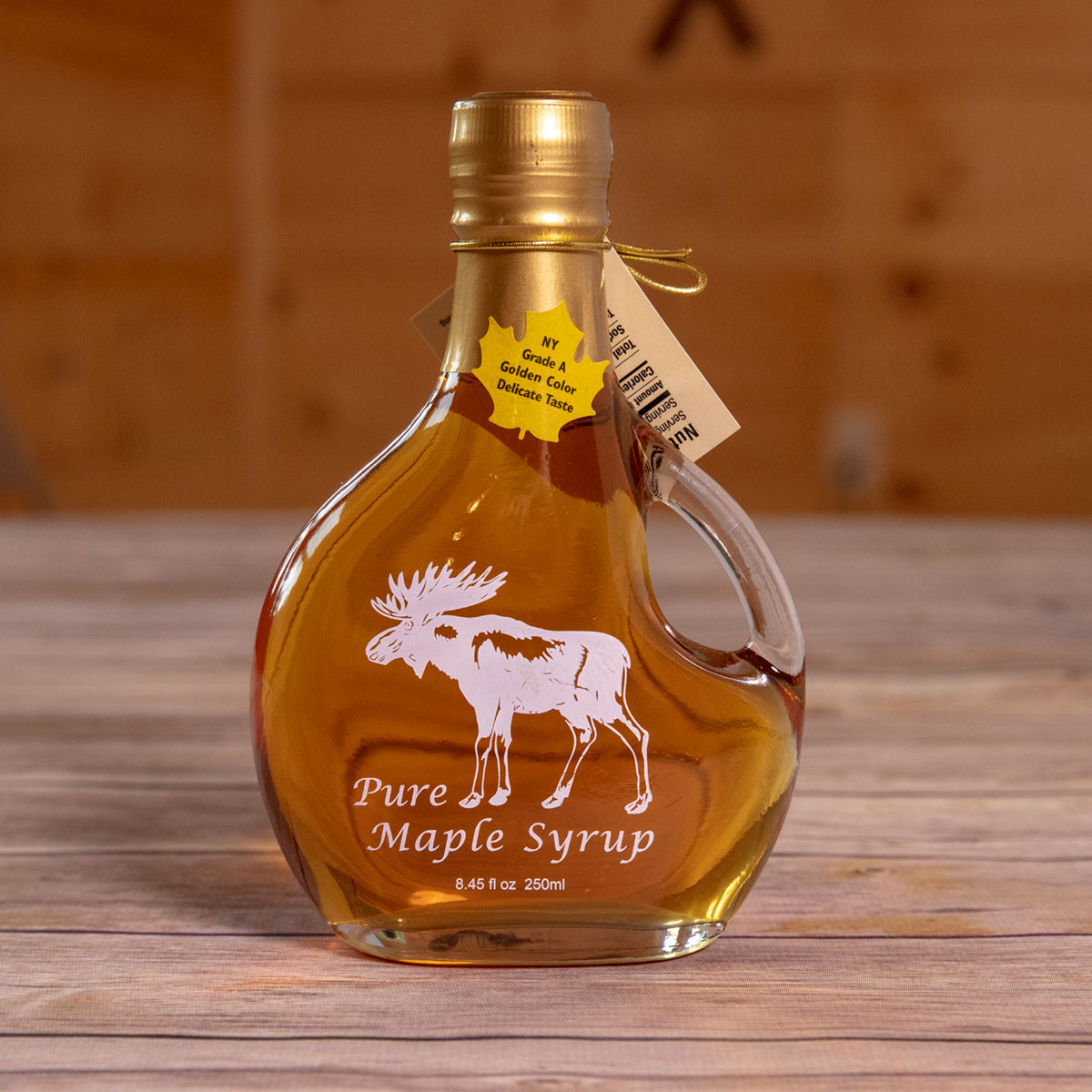 Bechard's PURE Maple Syrup Decorative Glass Jar 8.5 oz - Moose Basquaise