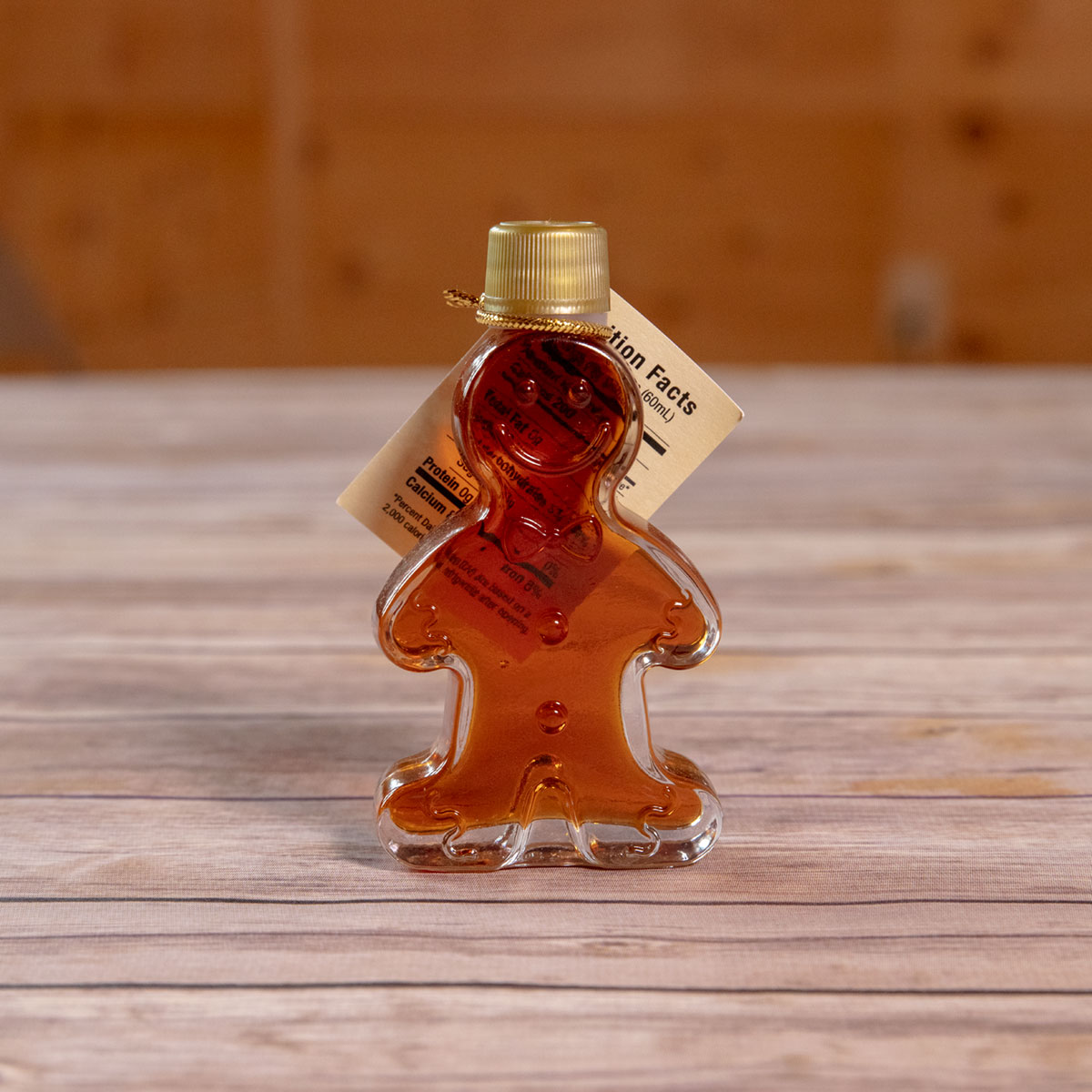 Bechard's PURE Maple Syrup Decorative Glass Jar - Gingerbread Man
