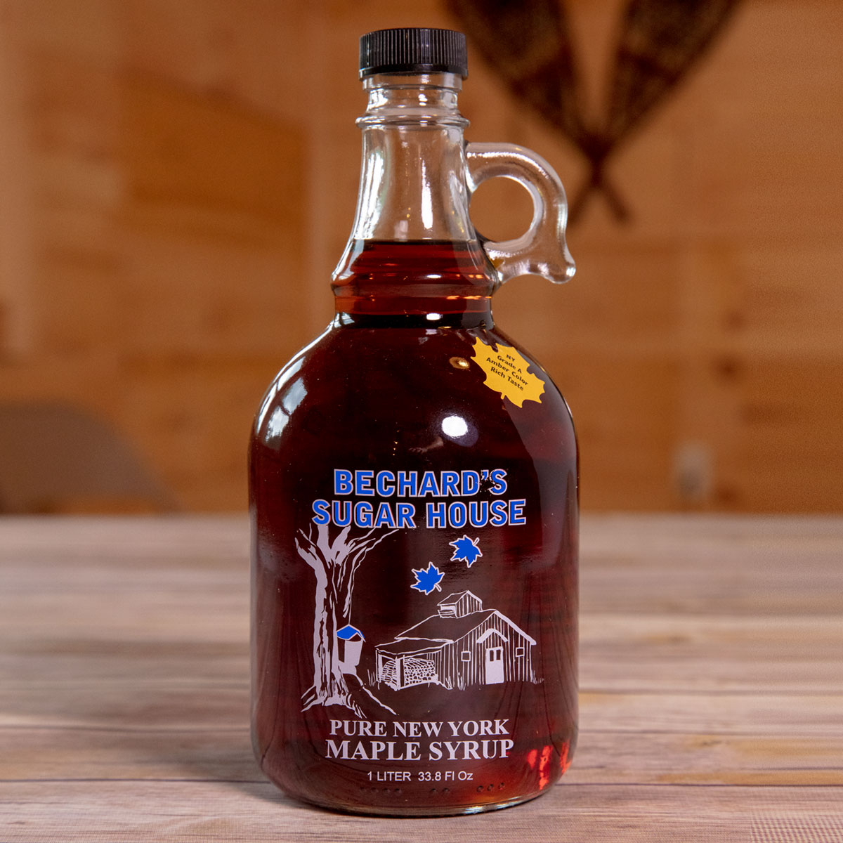 Bechard's PURE NY Maple Syrup - Glass Jug 34 oz.