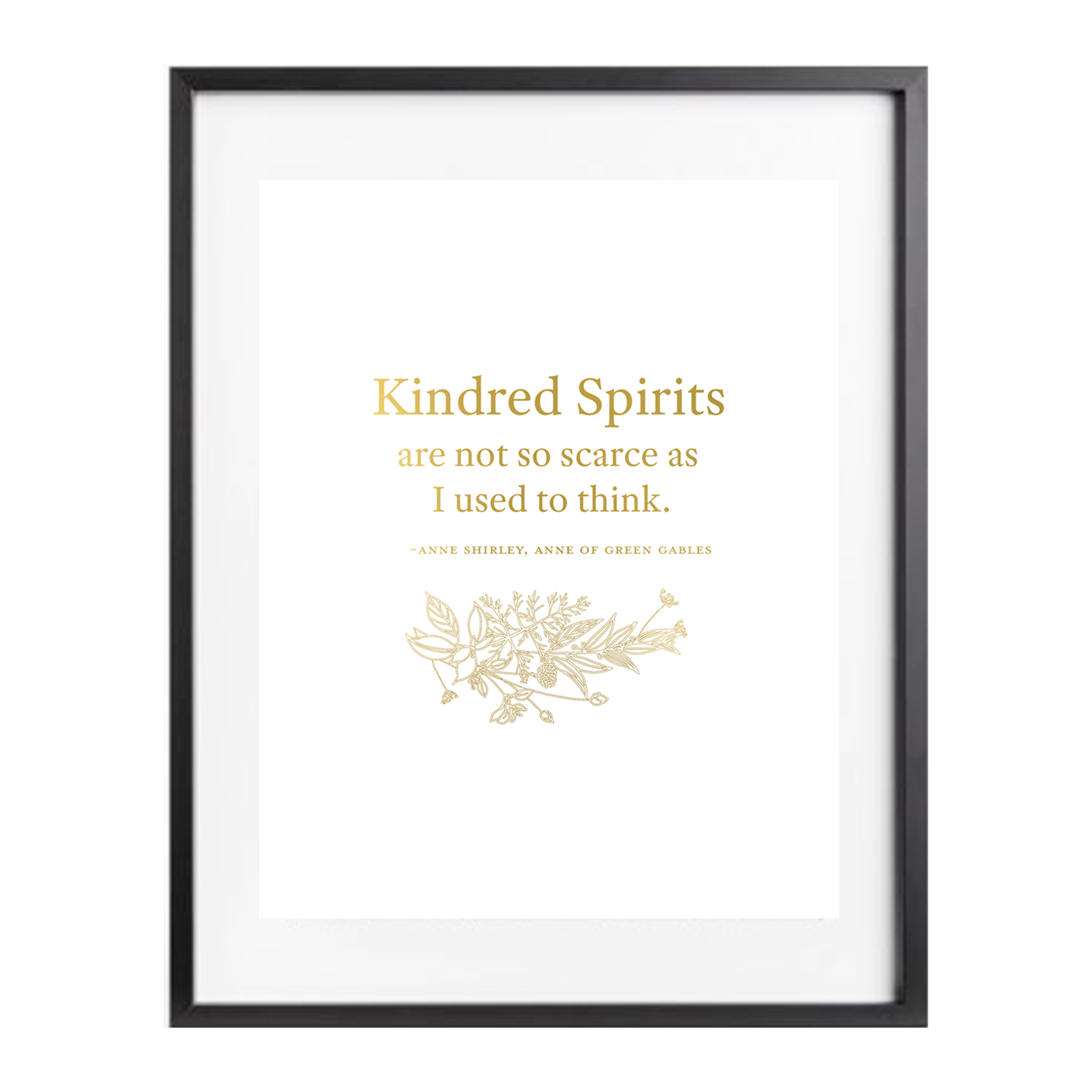 Kindred Spirits Gold Foil Print