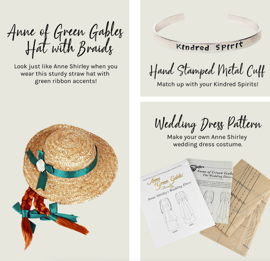 Anne-inspired products