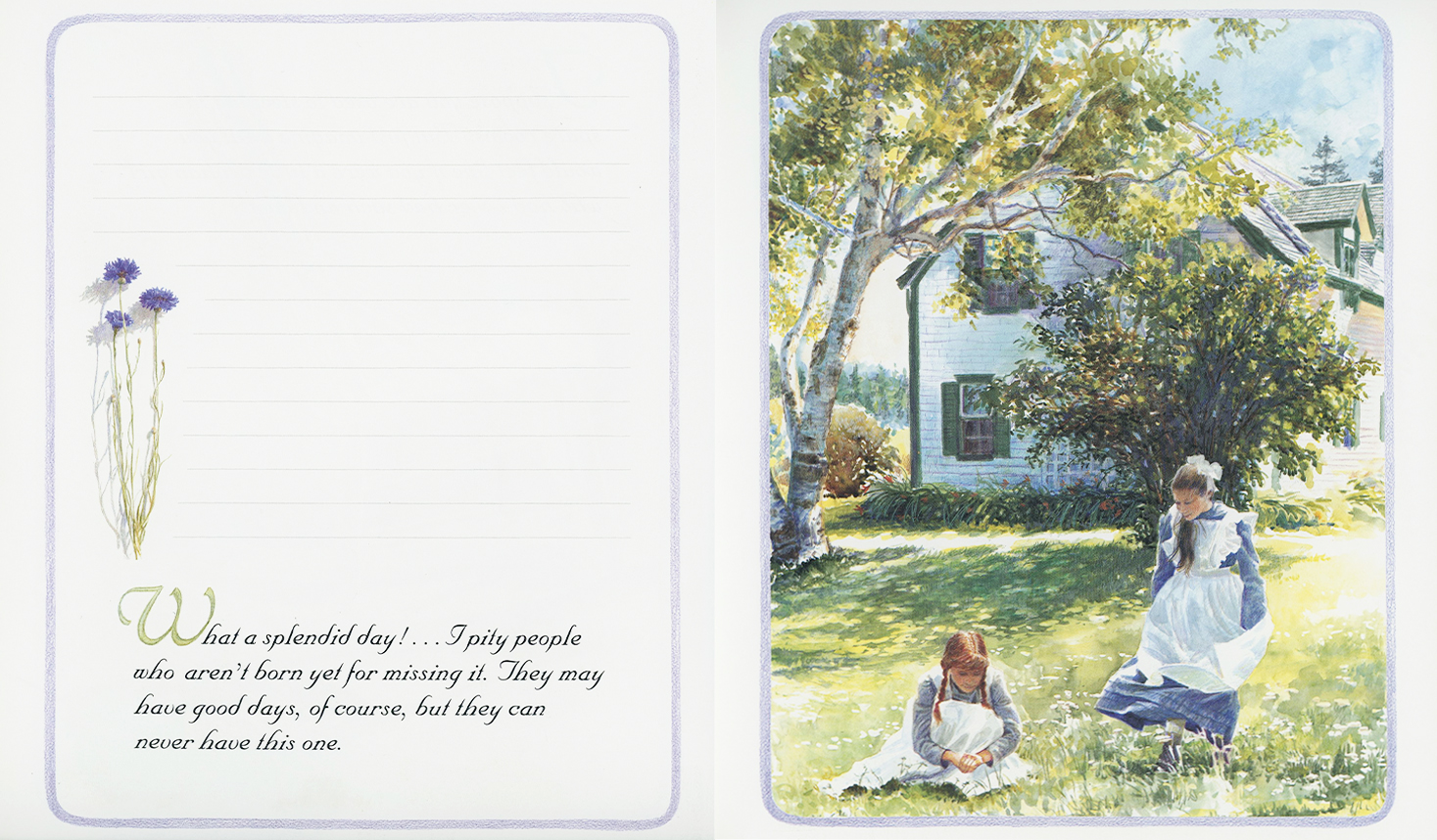 Anne of Green Gables Journal illustrated by Donna Green and signed by filmmaker Kevin Sullivan