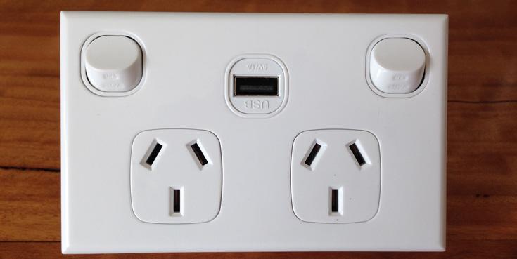 USB Power Point Installation