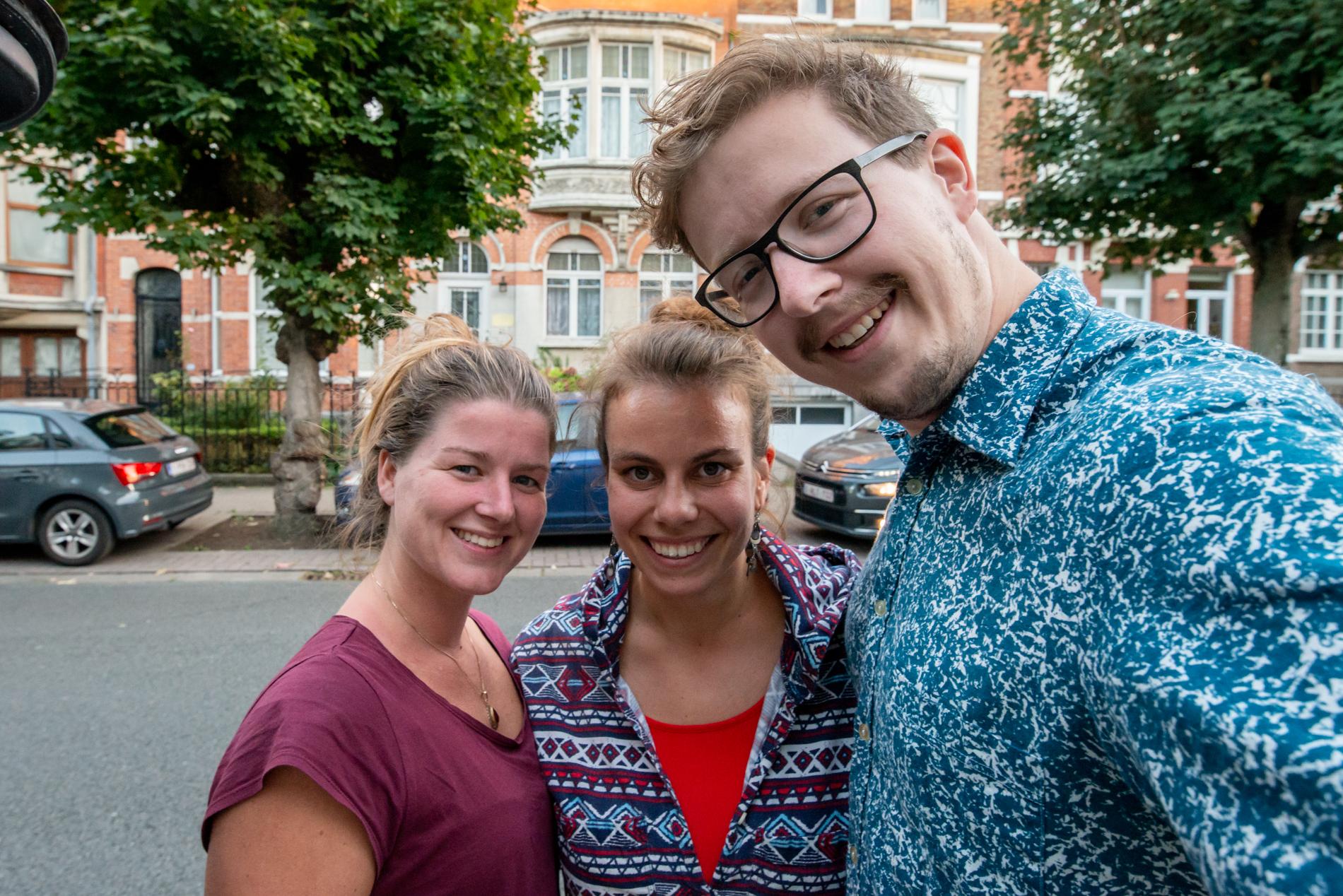 Ellis&me visiting their friend Moira in Brussels.