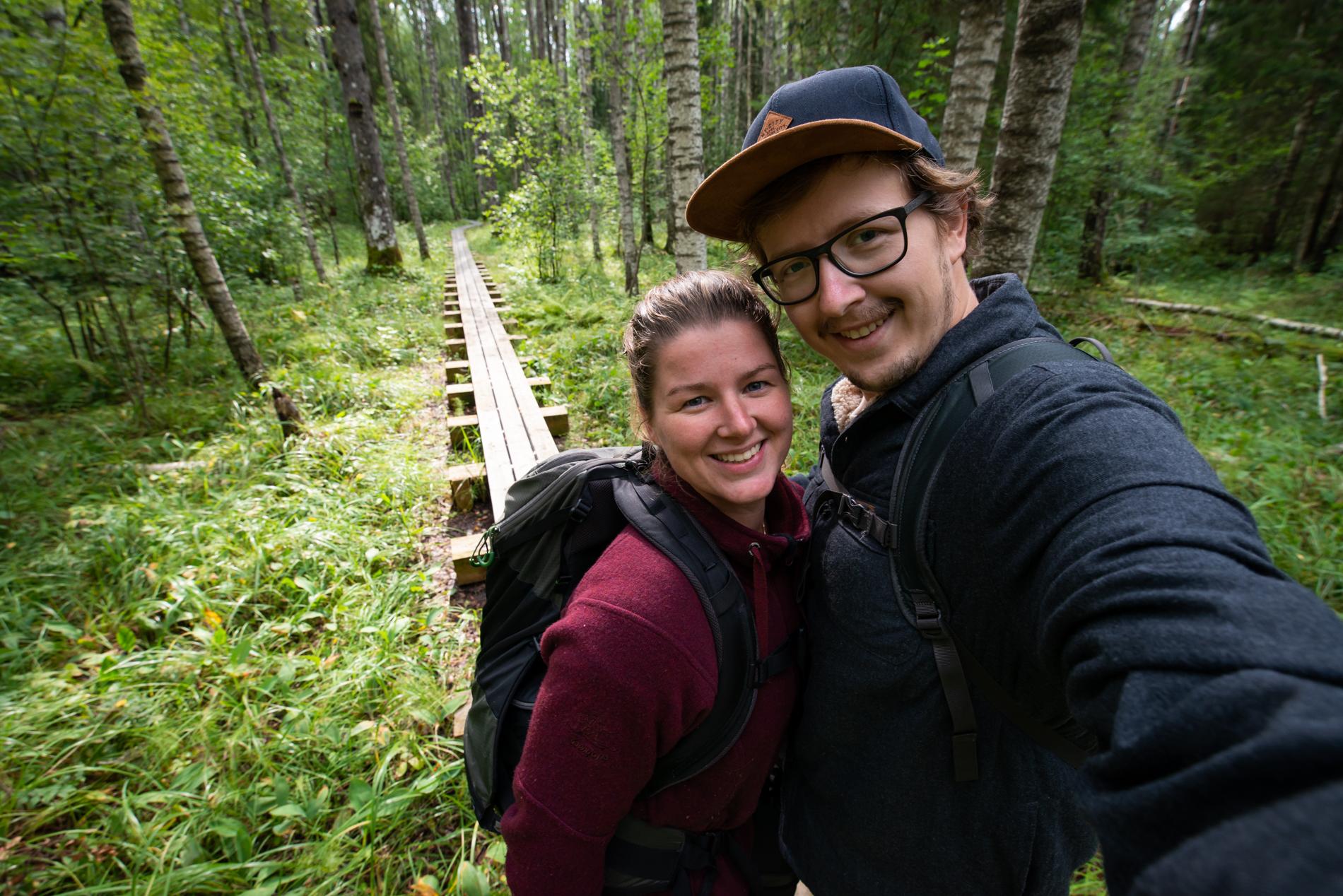 Ellis & me hiking in the Soomaa National Parc in Estonia.