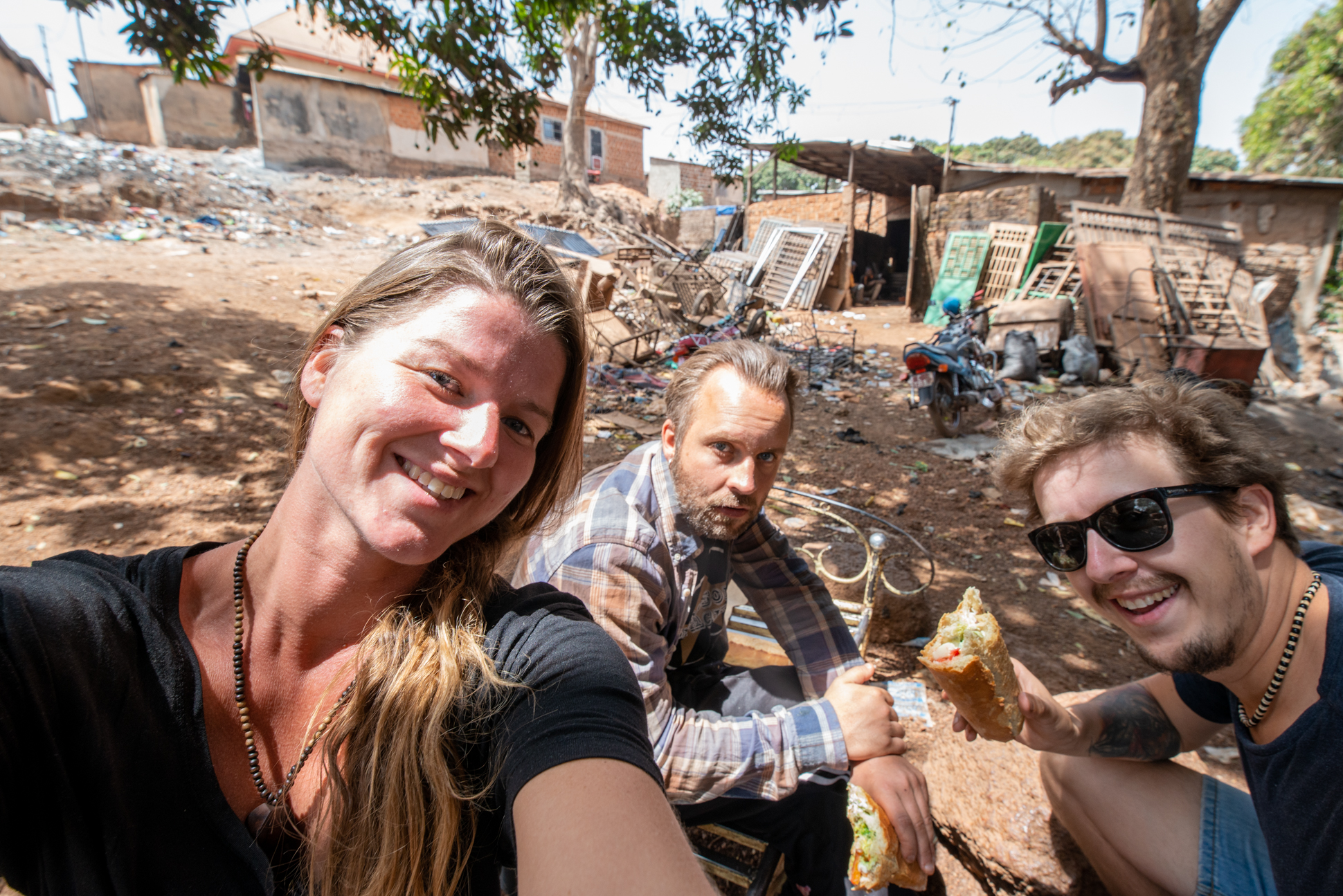 Own made lunch of Ellis&Me in Labé, Guinea-Conakry, Guinee-Conakry.