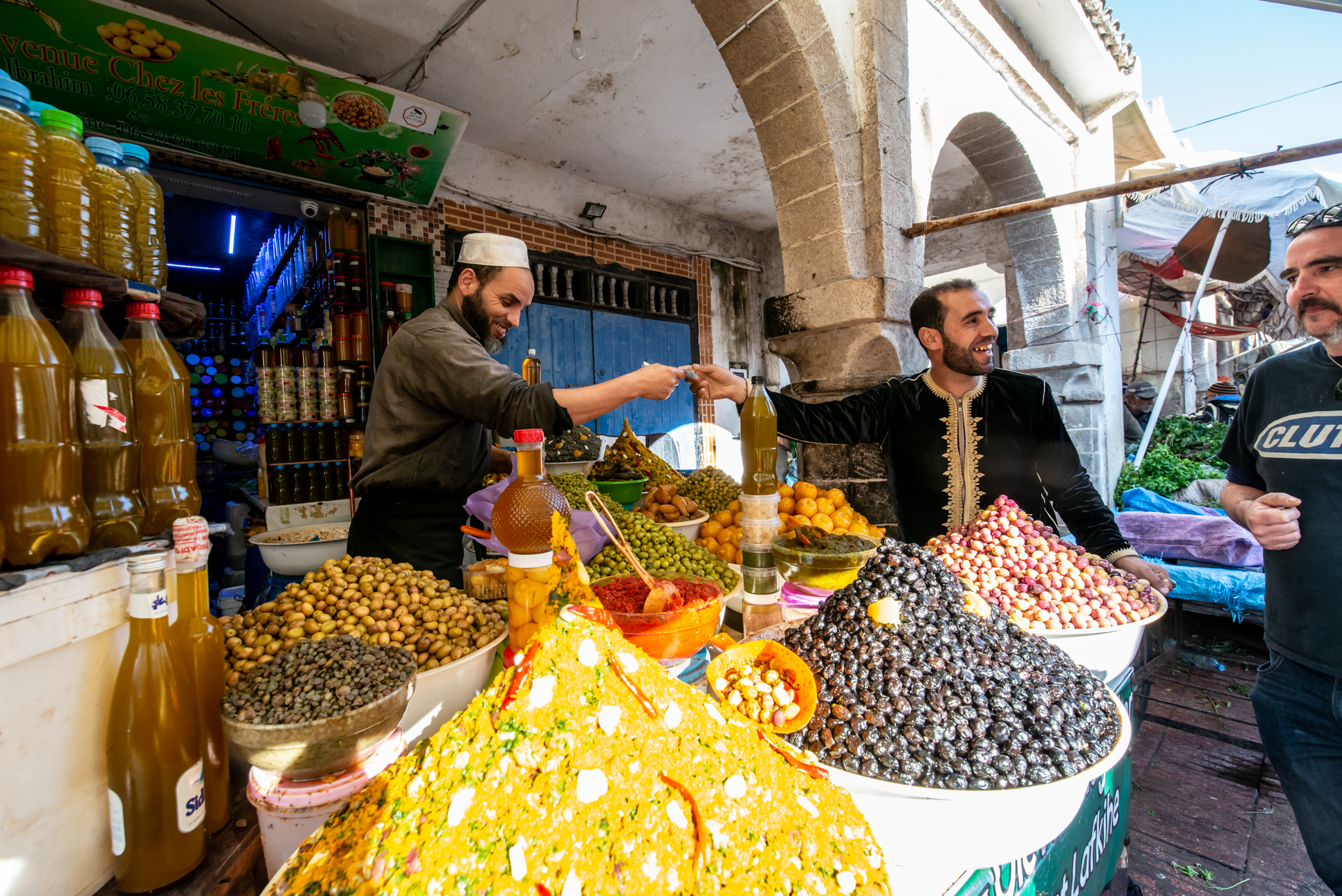 Moroccan market with olives and spices. Ellis & Me