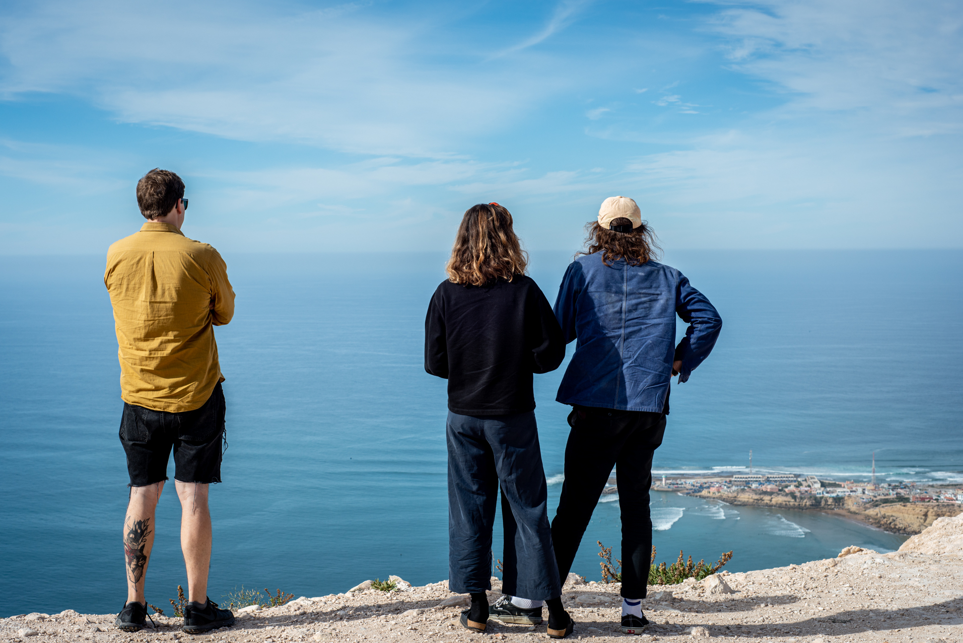 Standing on a cliff, watching over Imsouane and the deep blue sea of Morocco.