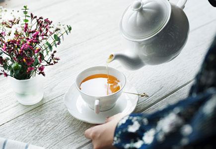 tea at a melrose cafe