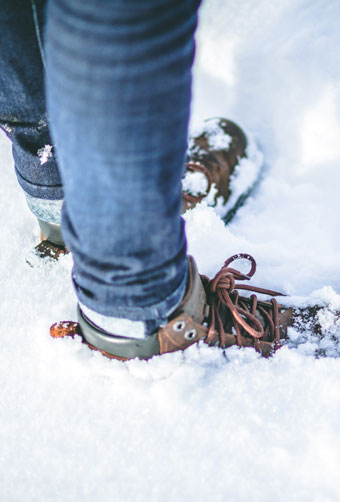 scottish snow and boots