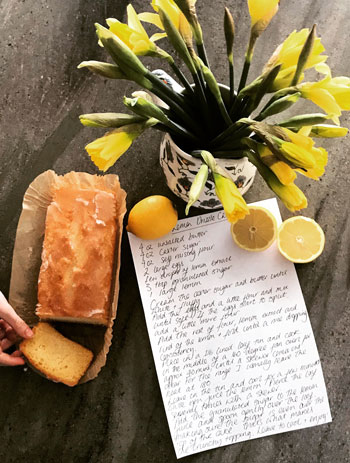 yellow flowers and letter